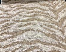 Load image into Gallery viewer, 3 Colors Tiger Cat Animal Chenille Upholstery Fabric Beige Cream Gray Black / RMIL13