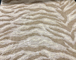 3 Colors Tiger Cat Animal Chenille Upholstery Fabric Beige Cream Gray Black / RMIL13