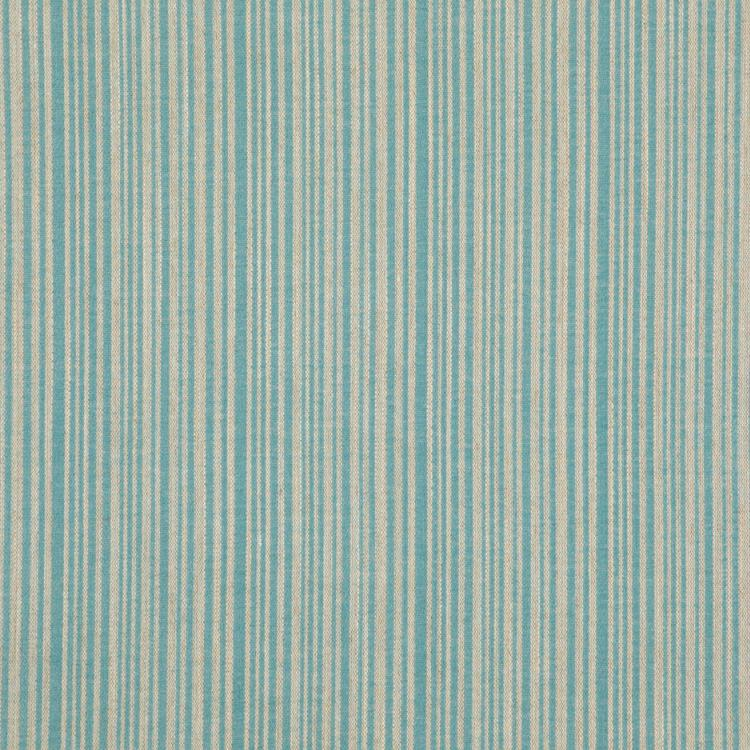 Lummus Light Blue Beige Stripe Upholstery Fabric / Sky