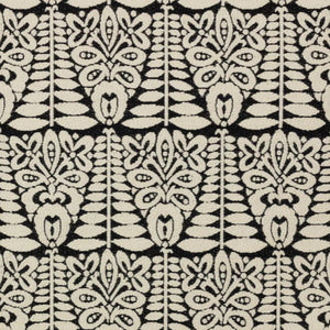Maasai Black Tribal Ethnic African Upholstery Fabric / Domino