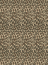 Load image into Gallery viewer, Stroheim Xenia Leopard Cheetah Chenille Upholstery Fabric / Malachite