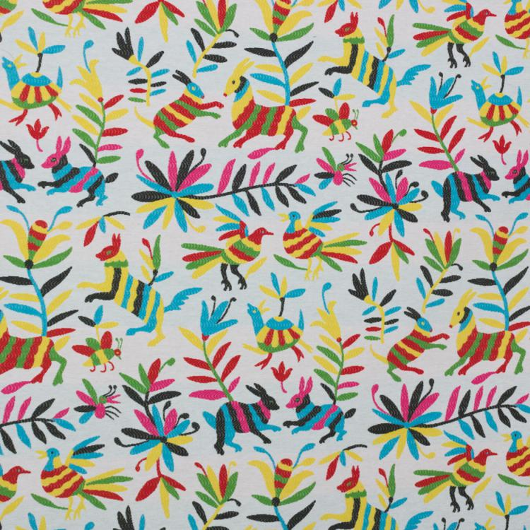 Otomi Fabric Tribal Ethnic Upholstery Tapestry Fabric Animal Print