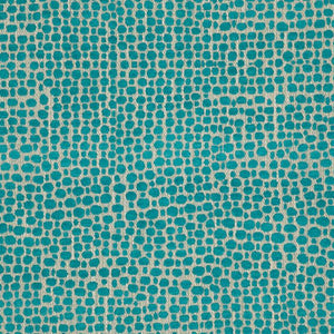 Palm Island Turquoise Blue Abstract Upholstery Fabric / Topaz
