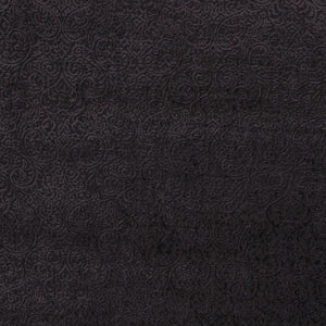 Sanremo Scroll Black Damask Chenille Upholstery Fabric / Shadow