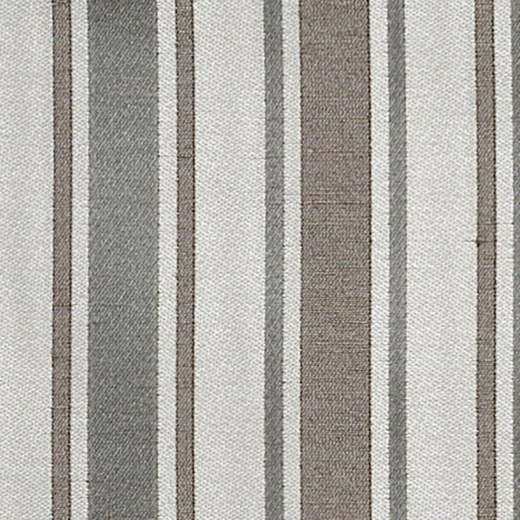 Shelton Stripe Gray Brown Cotton Blend Fabric / Silver Oak