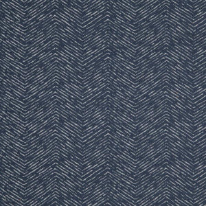 Strand Navy Blue Chevron Upholstery Fabric / Navy