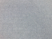 Load image into Gallery viewer, Designer Water & Stain Resistant Aqua Blue White Gray Grey Textured Woven MCM Mid Century Modern Upholstery Fabric