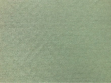 Load image into Gallery viewer, Designer Seafoam Aqua Blue Crypton Water & Stain Resistant Boucle Herringbone Tweed MCM Mid Century Modern Geometric Upholstery Fabric