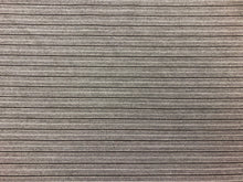 Load image into Gallery viewer, Indoor Outdoor Pin Stripe Gray Brown Water & Stain Resistant MCM Mid Century Modern Upholstery Drapery Fabric