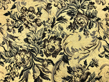 Load image into Gallery viewer, Vintage Floral Cotton Beige Navy French Blue Gray Brown Upholstery Fabric