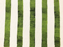 Load image into Gallery viewer, C&C Milano Ombrellone Giada Linen Ivory Lime Green Stripe Printed Upholstery Drapery Fabric