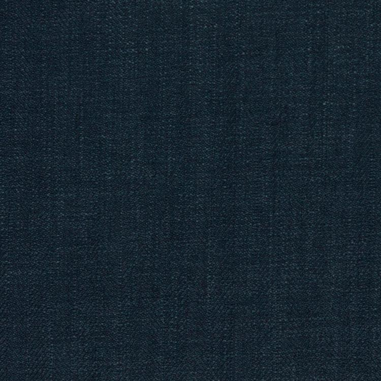 Barrister Navy Blue Upholstery Minimalist Linen Poly Fabric / Admiral