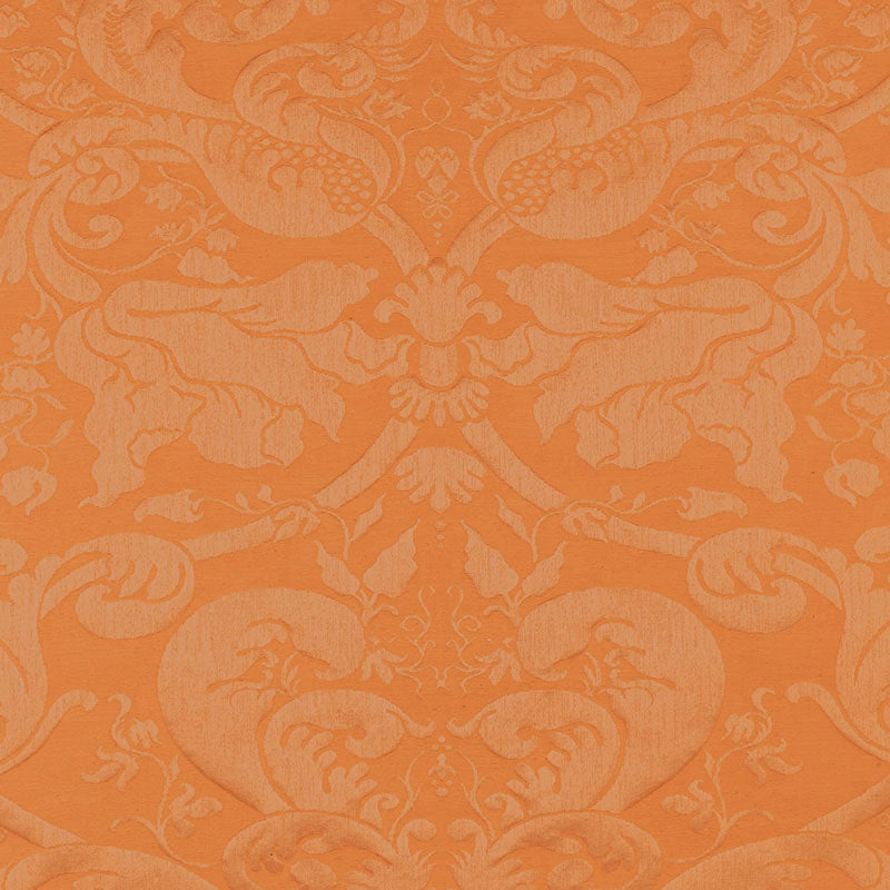 SCHUMACHER GAVOTTE BROCATELLE  FABRIC 22553 / TERRACOTTA