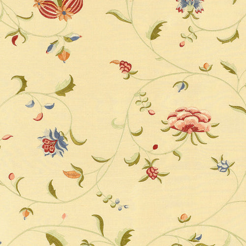 SCHUMACHER COLETTE EMBROIDERY FABRIC 22710 / ROSE