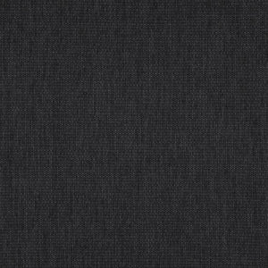 Ocean Drive Solid Charcoal Black Upholstery Fabric / Slate