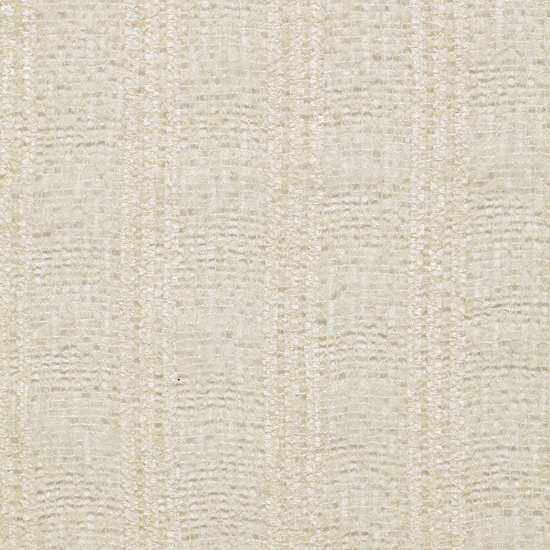 SCHUMACHER WOOL & MOHAIR STRIPE FABRIC 2611530 / CREAM