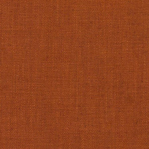 Barrister Rusty Orange Upholstery Minimalist Linen Poly Fabric / Pumpkin
