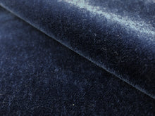 Load image into Gallery viewer, Designer Water & Stain Resistant Navy Blue Mohair Velvet Upholstery Fabric