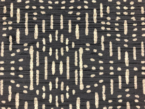 Designer Charcoal Gray Grey Tribal Ethnic Mudcloth Velvet Upholstery Fabric