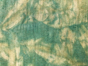 Designs of the Time Yvan Puylaert Belgian Linen Tie Dye Seafoam Sage Green Teal Blue Beige Water & Stain Resistant Upholstery Drapery Fabric