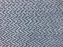 Load image into Gallery viewer, Kravet French Blue Herringbone Geometric MCM Mid Century Modern Upholstery Fabric