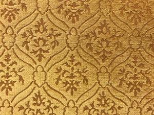 Kravet Design Yellow Gold Medallion Damask Chenille Upholstery Fabric
