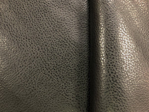 Designer Espresso Brown Textured Animal Pattern Faux Leather Vinyl Upholstery Fabric