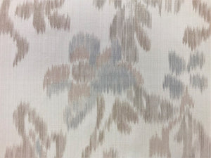 Ralph Lauren Leandre Warp Print Dove Beige Taupe Antique Aqua Gray Grey Floral Upholstery Drapery Fabric