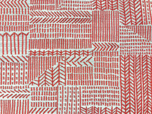 Load image into Gallery viewer, Designer Woven Abstract Water & Stain Resistant Tribal Ethnic Red Beige Southwestern Upholstery Drapery Fabric