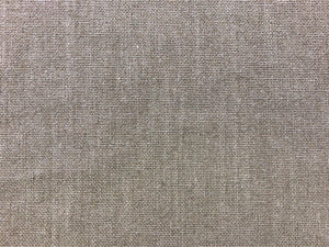 Designer Taupe Neutral Silver Metallic Glazed Beige Linen MCM Mid Century Modern Upholstery Drapery Fabric