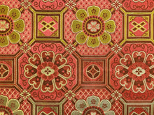 Load image into Gallery viewer, Discontinued Schumacher Cloisonne Weave Red Mustard Gold Chinoiserie Asian Cotton Silk Upholstery Drapery Fabric