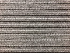 Indoor Outdoor Pin Stripe Gray Brown Water & Stain Resistant MCM Mid Century Modern Upholstery Drapery Fabric