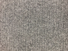 Load image into Gallery viewer, Andrew Martin Wessex Charcoal Wool Polyamide Small Scale Tweed Herringbone Geometric Gray Grey Water & Stain Resistant Mid Century Modern Upholstery Drapery Fabric