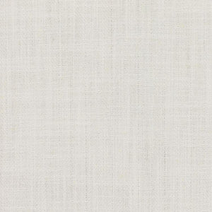 Barrister White  Upholstery Minimalist Linen Poly Fabric / Snow