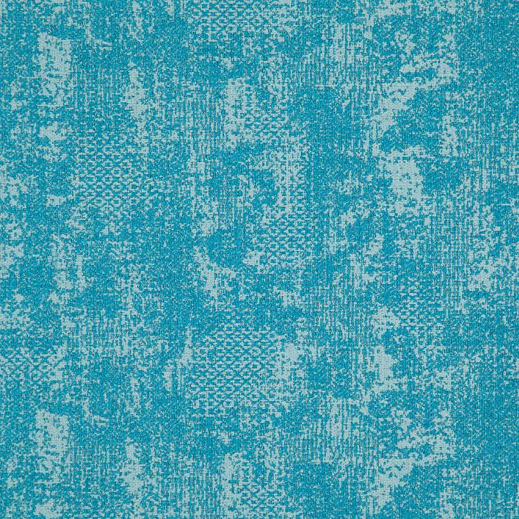 Cardozo Abstract Mid Century Modern Blue Upholstery Fabric / Teal