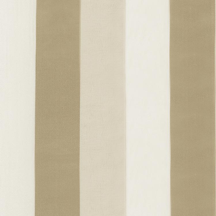 Genoa Stripe Beige Cream Cotton Fabric / Candlelight