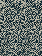 Load image into Gallery viewer, Fabricut Zebra Tailed Chenille Animal Upholstery Fabric / Lakeland