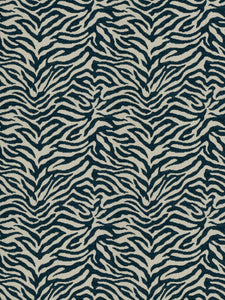 Fabricut Zebra Tailed Chenille Animal Upholstery Fabric / Lakeland