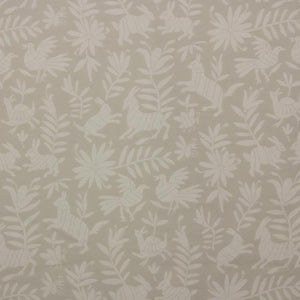 Pinata Cream Beige Upholstery Fabric Animal Leaves Print / Cotton