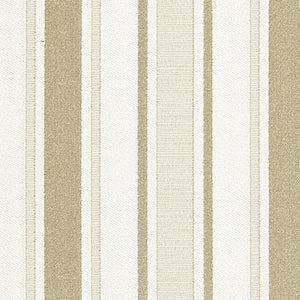 Shelton Stripe Beige Cream White Cotton Blend Fabric / Candlelight
