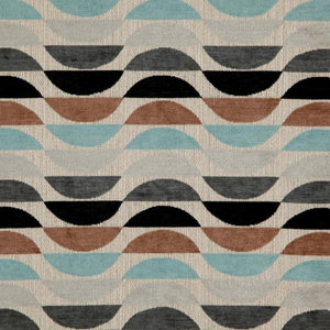 South Beach Fabric Art Deco Modern Geometric Chenille Upholstery Fabric