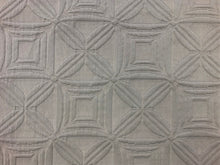 Load image into Gallery viewer, Designer Geometric Gray Grey Matelasse Upholstery Drapery Fabric