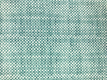 Load image into Gallery viewer, Designer Indoor Outdoor Water & Stain Resistant Teal Blue Off White Small Scale Geometric MCM Mid Century Modern Upholstery Drapery Fabric