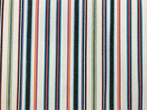 Designer Indoor Outdoor Water & Stain Resistant Beige Coral Charcoal Black Pink Teal Stripe Upholstery Fabric