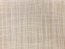 Load image into Gallery viewer, Designer Taupe Beige Off White Abstract MCM Mid Century Modern Upholstery Drapery Fabric