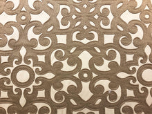 Load image into Gallery viewer, Beige Taupe Figural Renaissance Filigree Pattern Drapery Fabric