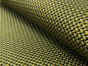 Designer Basketweave Small Scale Textured Geometric Antique Bronze Olive Green Faux Leather Upholstery Vinyl
