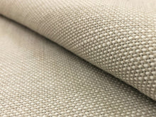 Load image into Gallery viewer, Sunbrella Blend Linen 16001-0014 Indoor Outdoor Water & Stain Resistant Greige Neutral Woven Small Scale Upholstery Drapery Fabric
