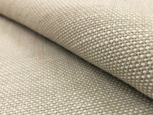 Sunbrella Blend Linen 16001-0014 Indoor Outdoor Water & Stain Resistant Greige Neutral Woven Small Scale Upholstery Drapery Fabric