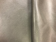Load image into Gallery viewer, Designer Charcoal Grey Gray Ostrich Animal Pattern Vegan Faux Leather Upholstery Fabric